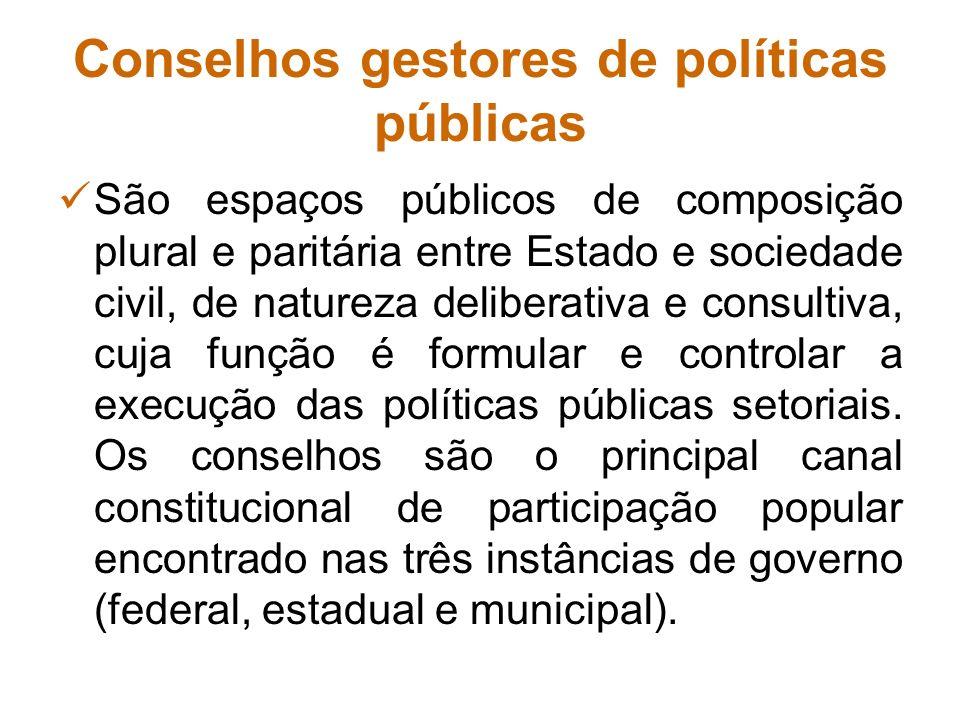 Conselhos gestores de políticas públicas