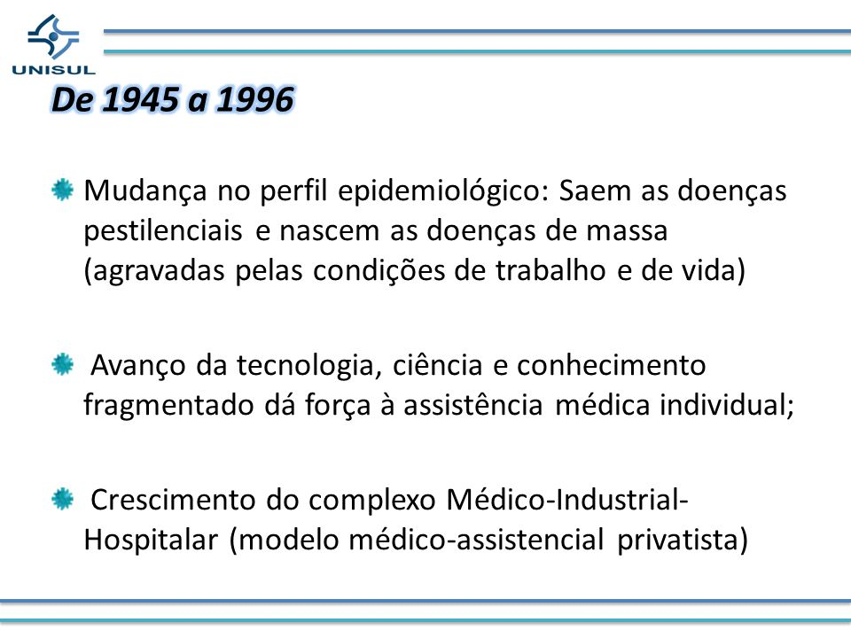 De 1945 a 1996