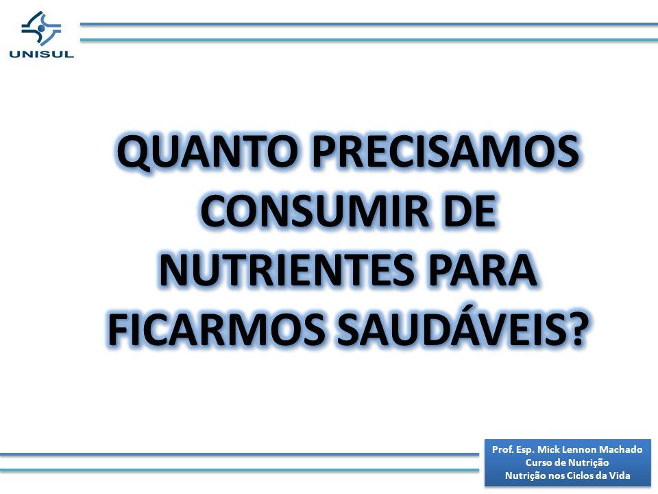 QUANTO PRECISAMOS CONSUMIR DE NUTRIENTES PARA FICARMOS SAUDÁVEIS