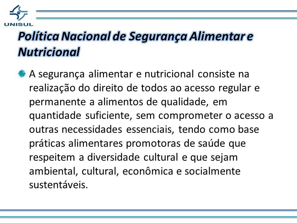 Política Nacional de Segurança Alimentar e Nutricional