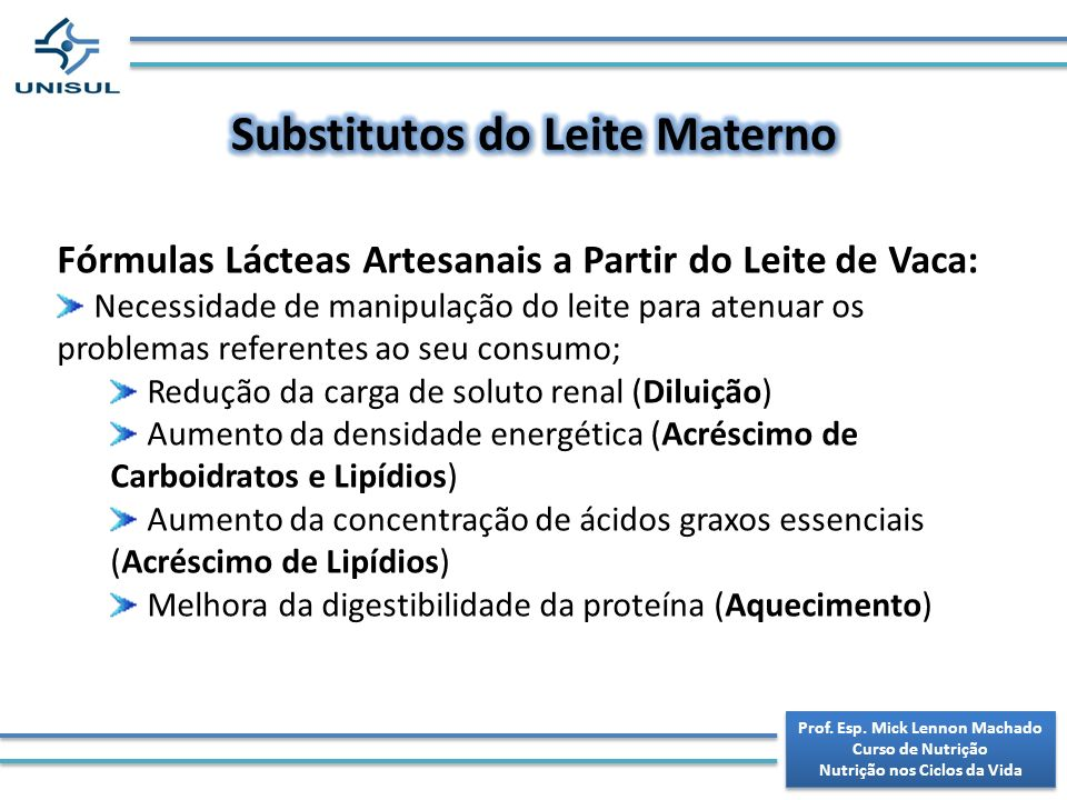Substitutos do Leite Materno