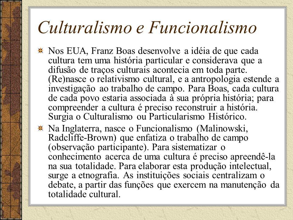 Culturalismo e Funcionalismo