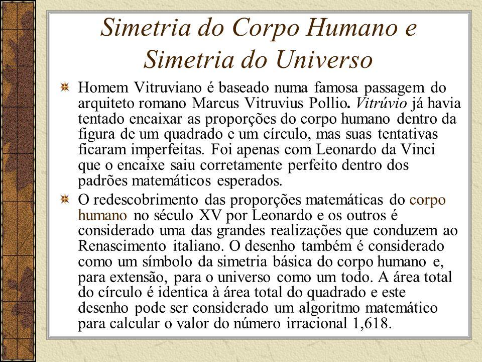 Simetria do Corpo Humano e Simetria do Universo