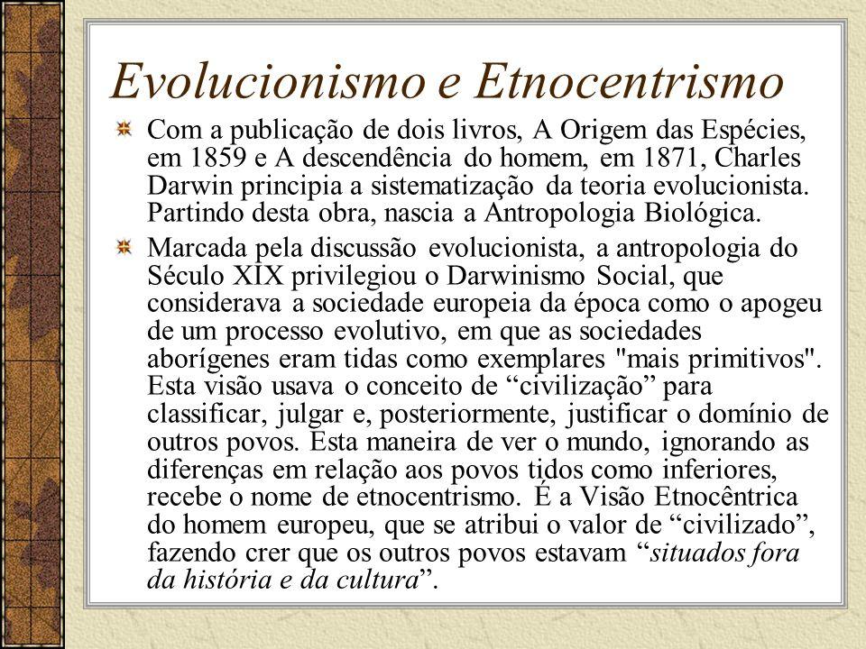 Evolucionismo e Etnocentrismo