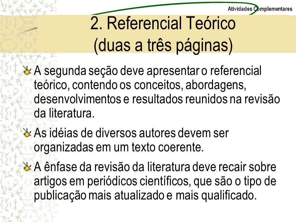 2. Referencial Teórico (duas a três páginas)