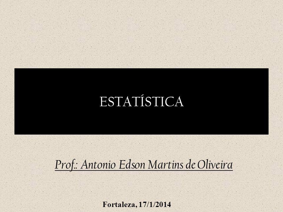 Prof.: Antonio Edson Martins de Oliveira