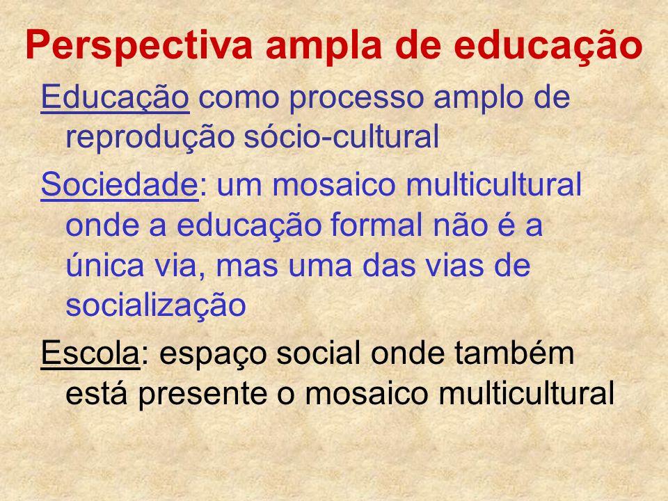 Perspectiva ampla de educação