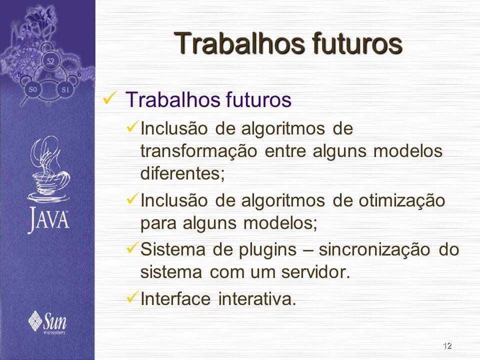 Trabalhos futuros Trabalhos futuros