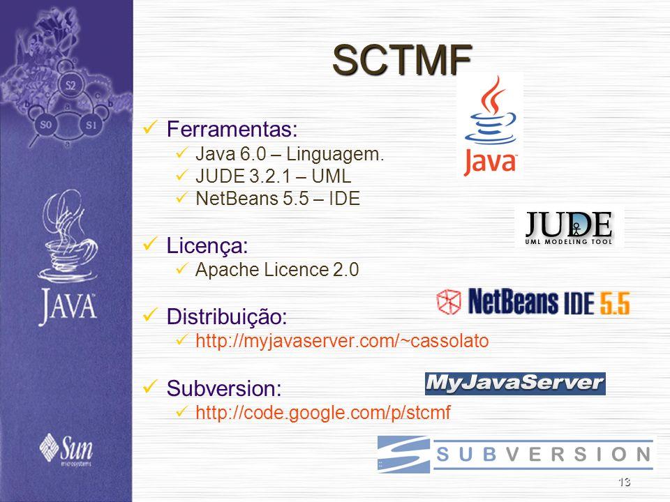 SCTMF Ferramentas: Licença: Distribuição: Subversion: