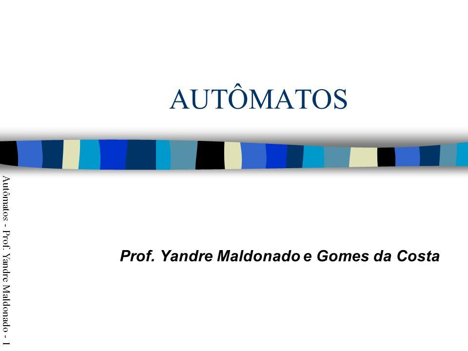 Prof. Yandre Maldonado e Gomes da Costa