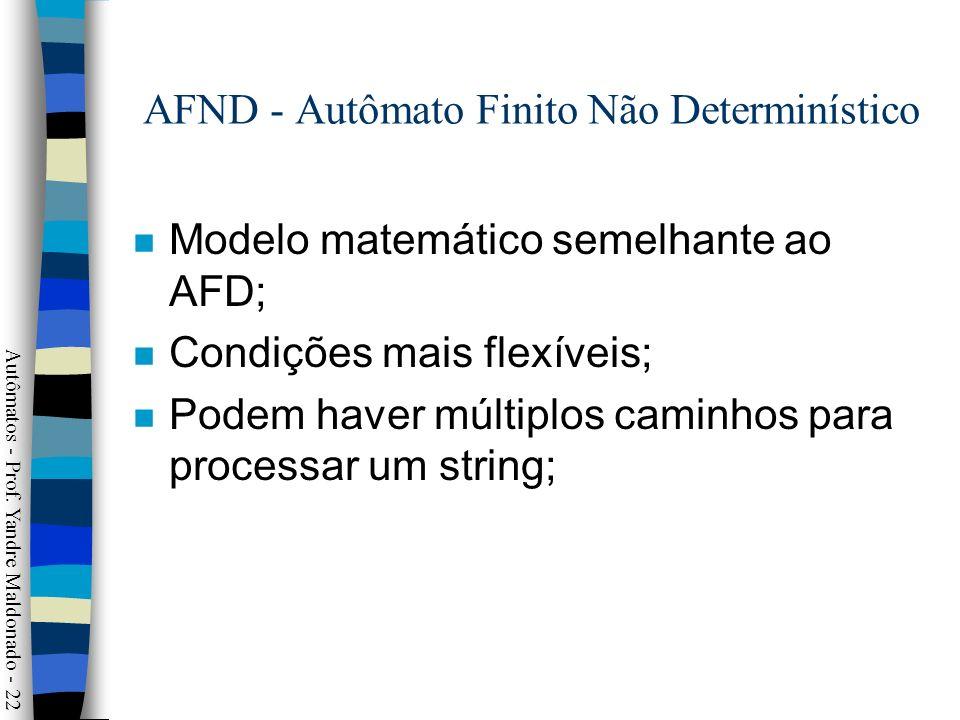 AFND - Autômato Finito Não Determinístico
