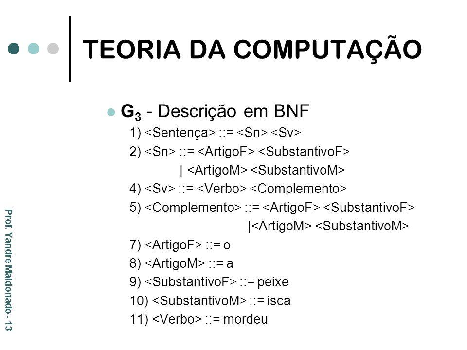 TEORIA DA COMPUTAÇÃO G3 - Descrição em BNF