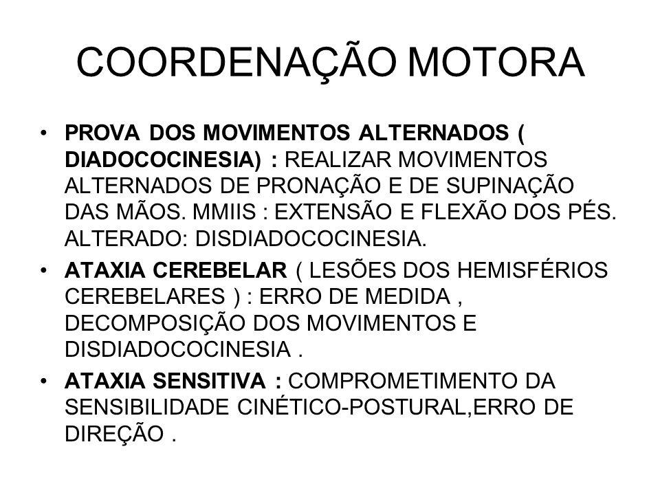 COORDENAÇÃO MOTORA