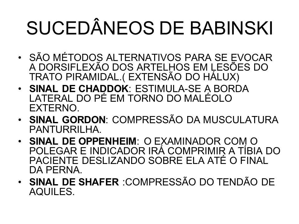SUCEDÂNEOS DE BABINSKI