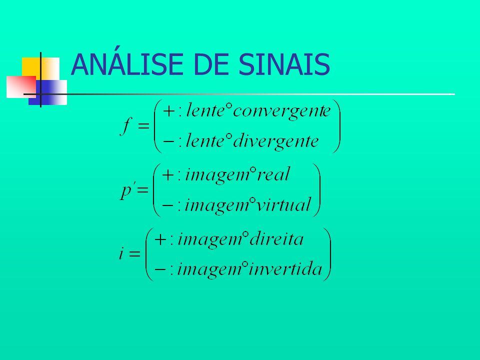 ANÁLISE DE SINAIS