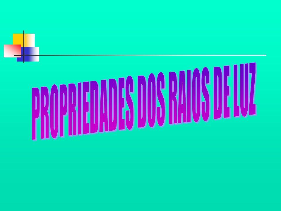 PROPRIEDADES DOS RAIOS DE LUZ