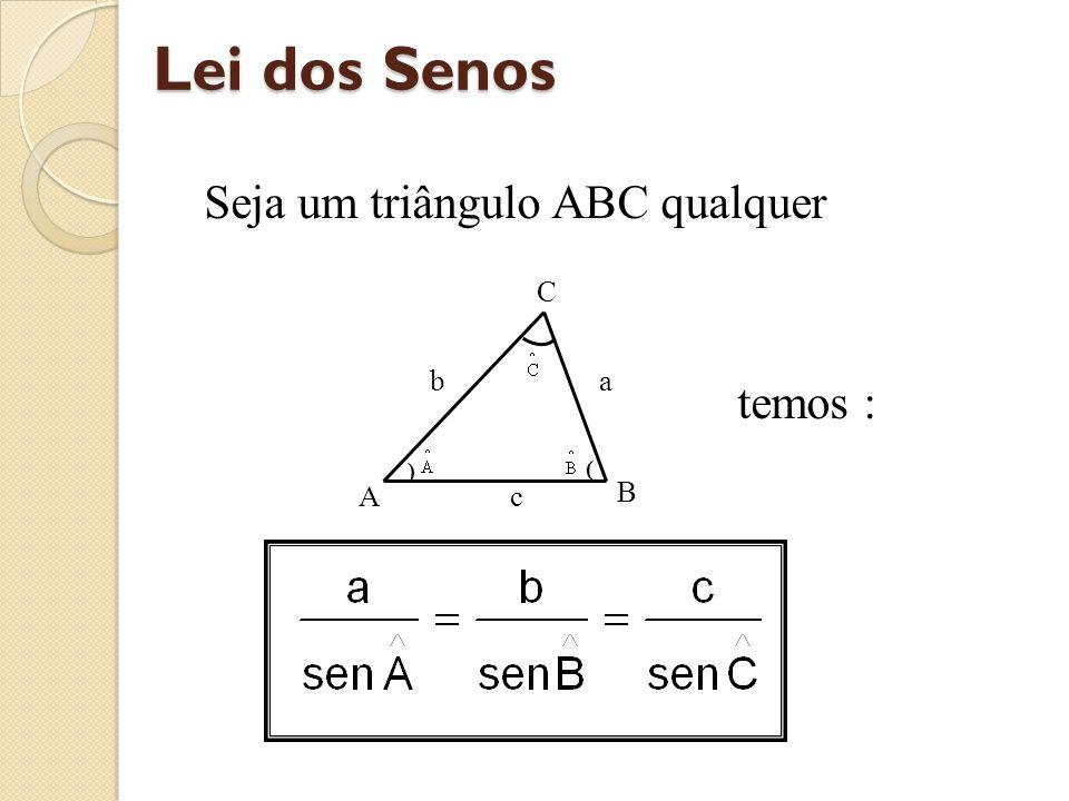 Seja um triângulo ABC qualquer