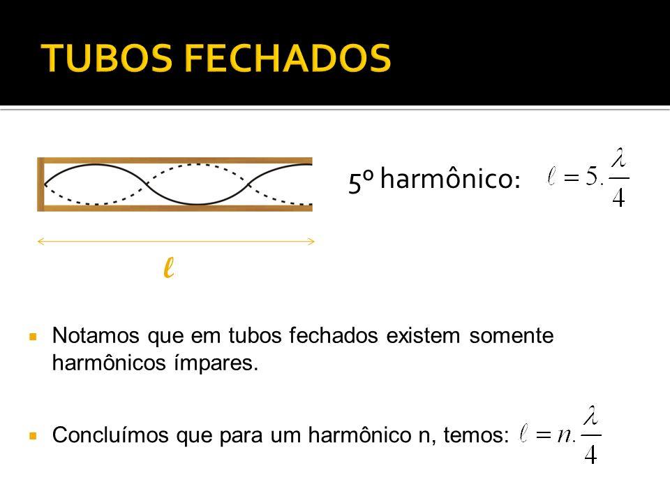 TUBOS FECHADOS 5º harmônico: l