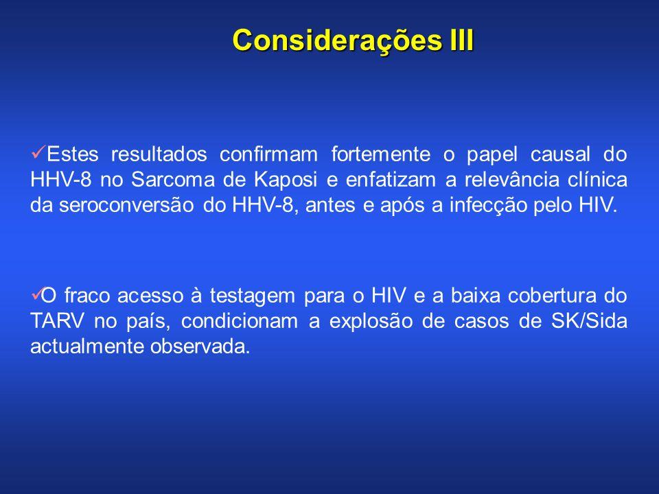 Considerações III