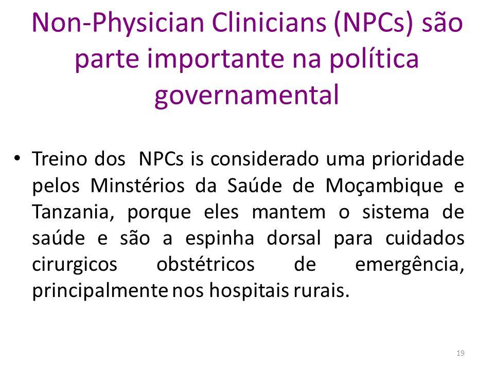 Non-Physician Clinicians (NPCs) são parte importante na política governamental