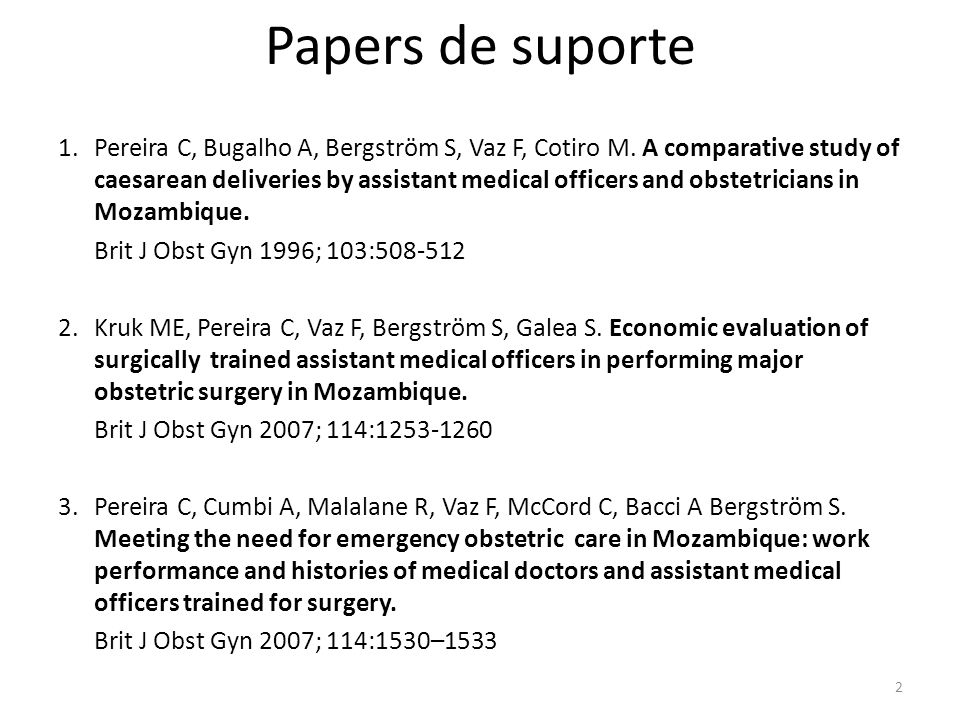 Papers de suporte