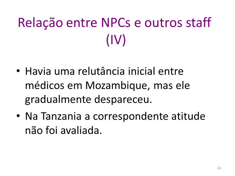 Relação entre NPCs e outros staff (IV)
