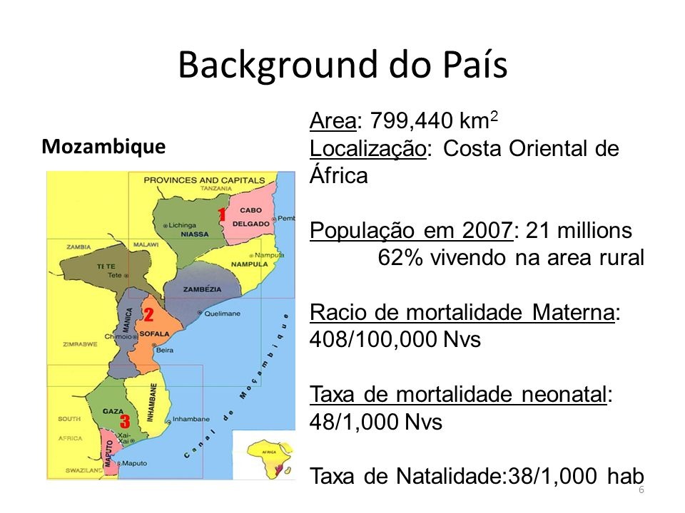 Background do País Area: 799,440 km2