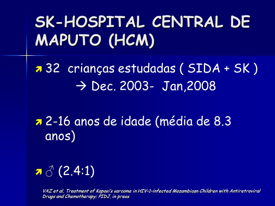 SK-HOSPITAL CENTRAL DE MAPUTO (HCM)