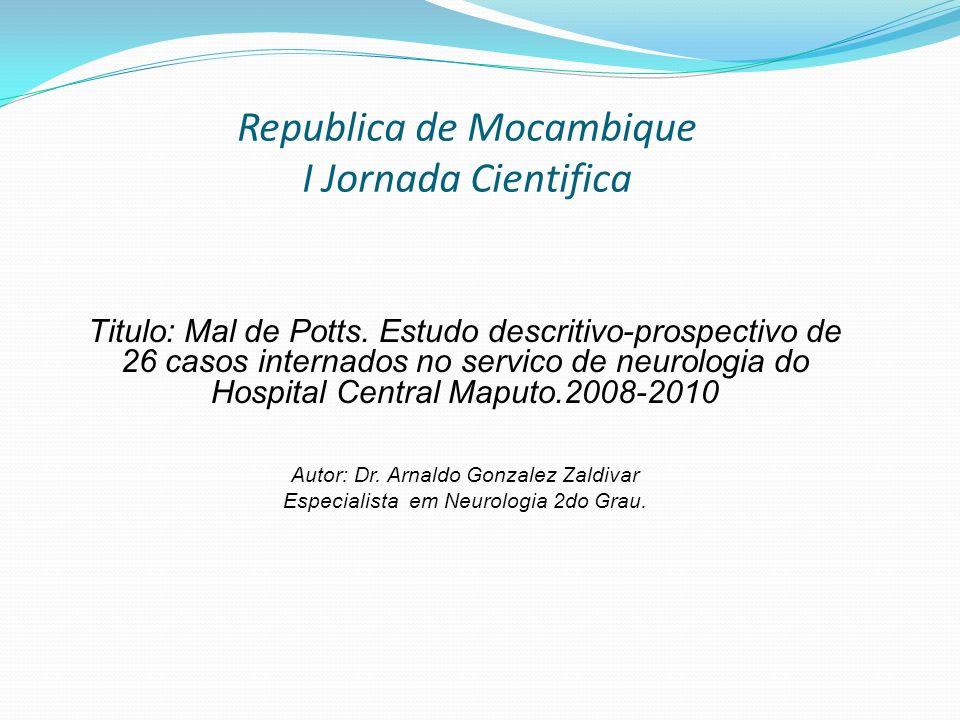 Republica de Mocambique I Jornada Cientifica