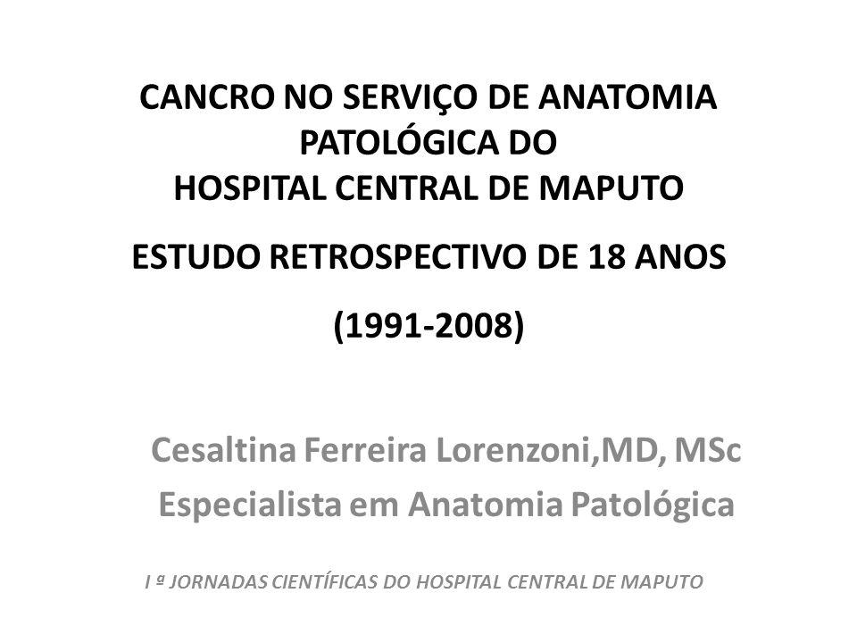 CANCRO NO SERVIÇO DE ANATOMIA PATOLÓGICA DO HOSPITAL CENTRAL DE MAPUTO