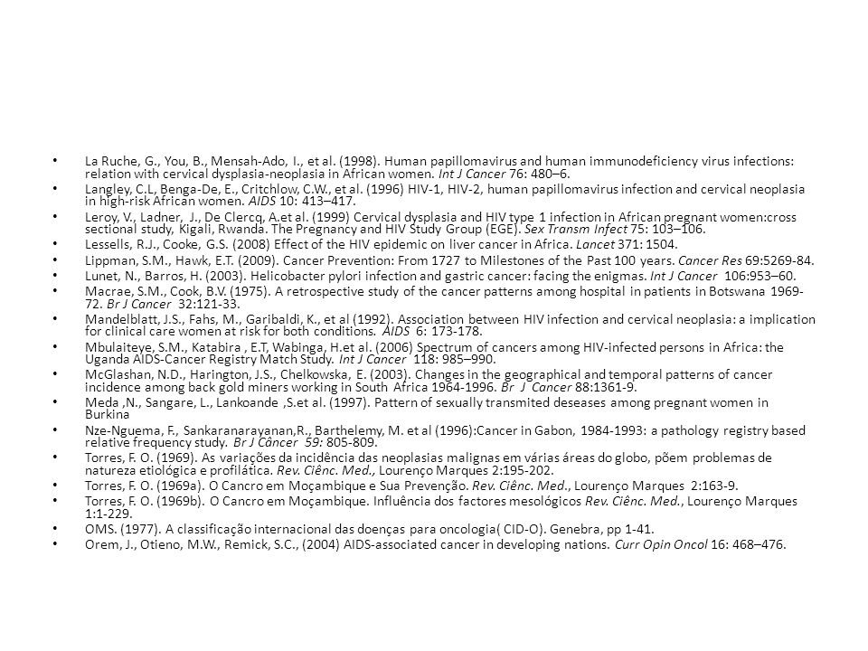 La Ruche, G. , You, B. , Mensah-Ado, I. , et al. (1998)