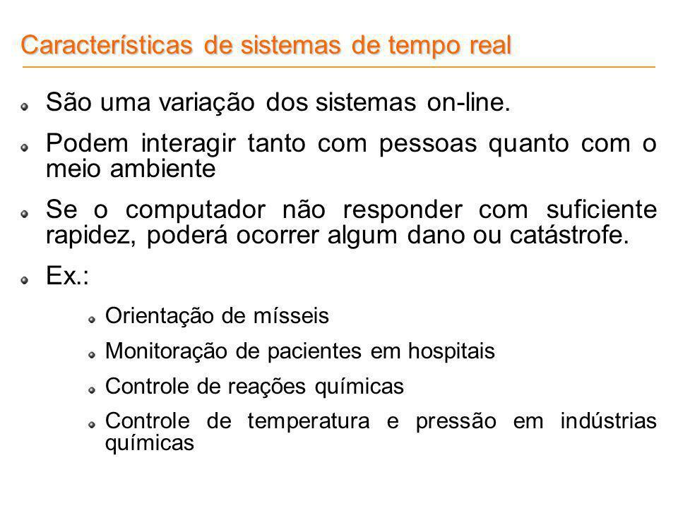 Características de sistemas de tempo real