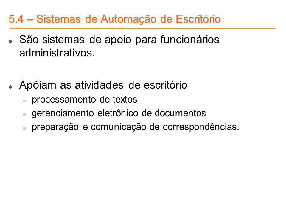 5.4 – Sistemas de Automação de Escritório