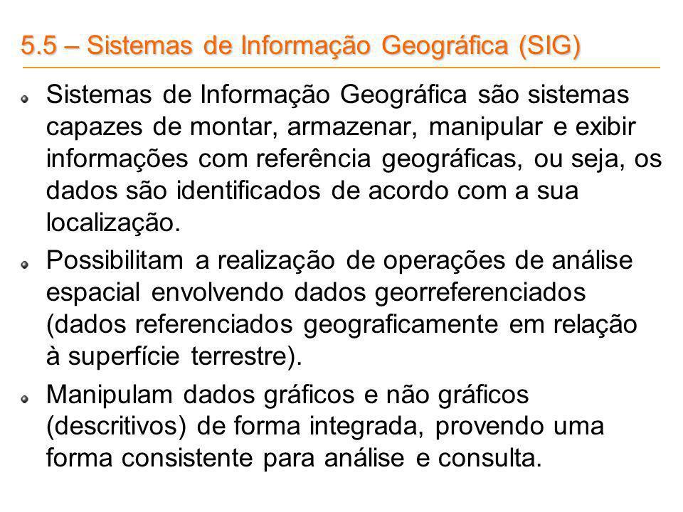 5.5 – Sistemas de Informação Geográfica (SIG)