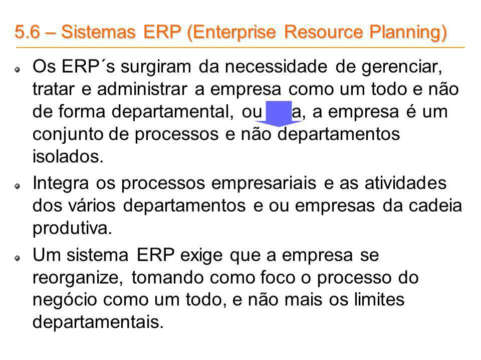 5.6 – Sistemas ERP (Enterprise Resource Planning)