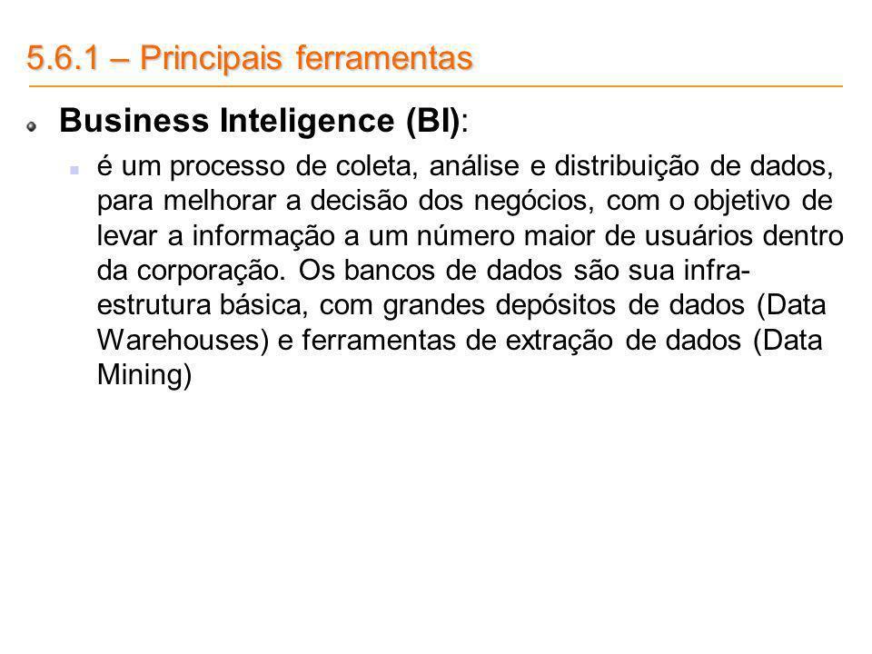 5.6.1 – Principais ferramentas Business Inteligence (BI):