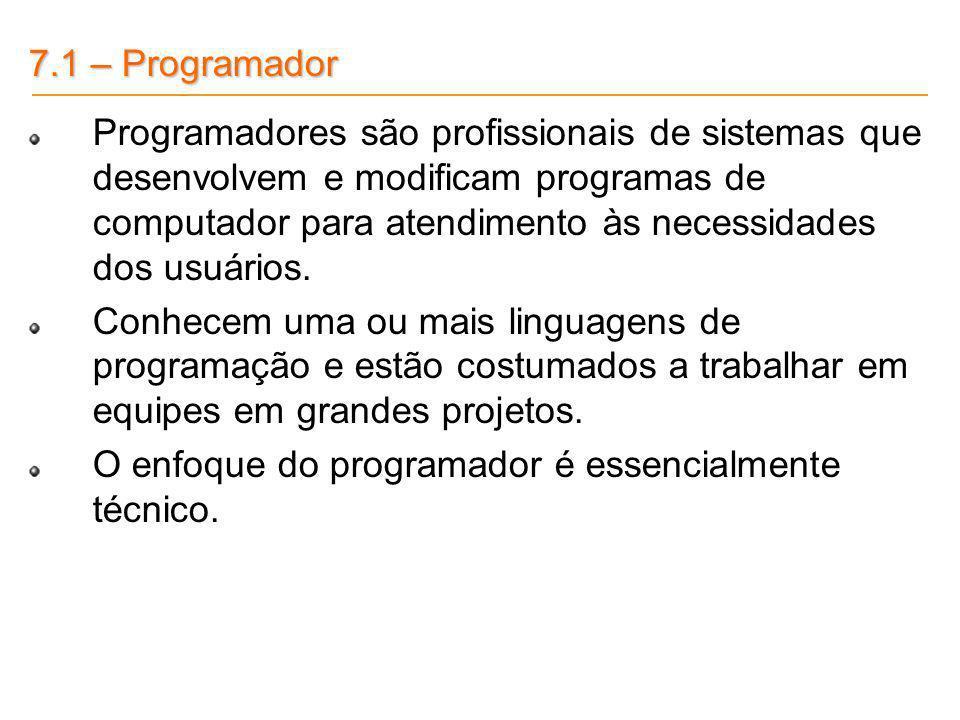 7.1 – Programador