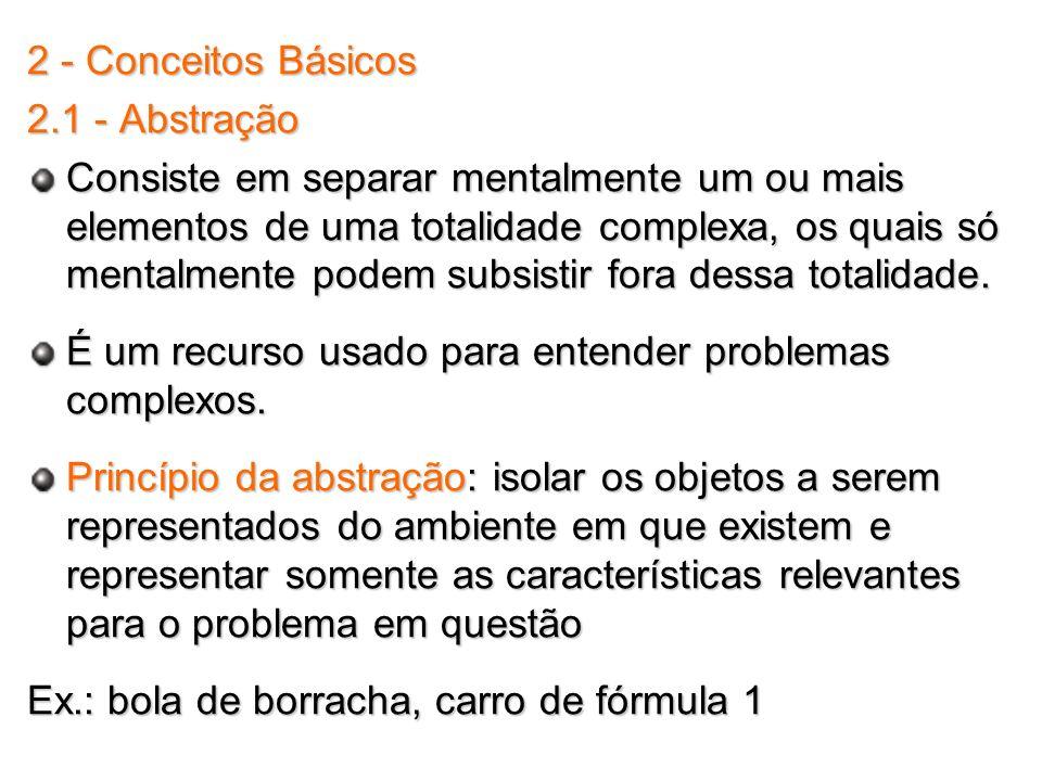 2 - Conceitos Básicos 2.1 - Abstração.