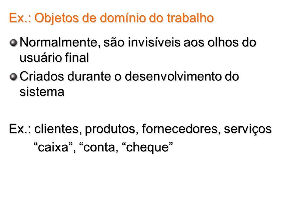 Ex.: Objetos de domínio do trabalho