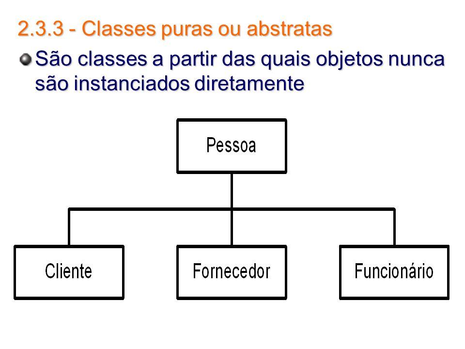 2.3.3 - Classes puras ou abstratas