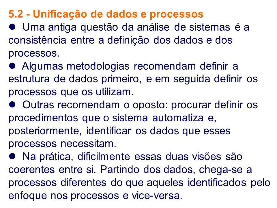 5.2 - Unificação de dados e processos