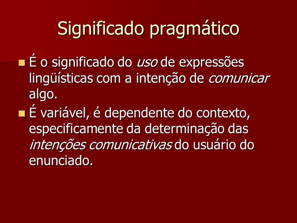 Significado pragmático