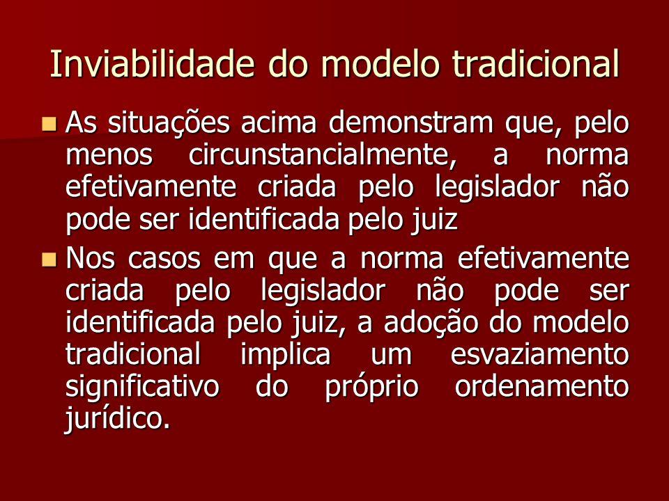 Inviabilidade do modelo tradicional