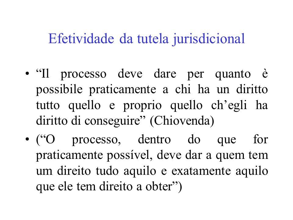 Efetividade da tutela jurisdicional