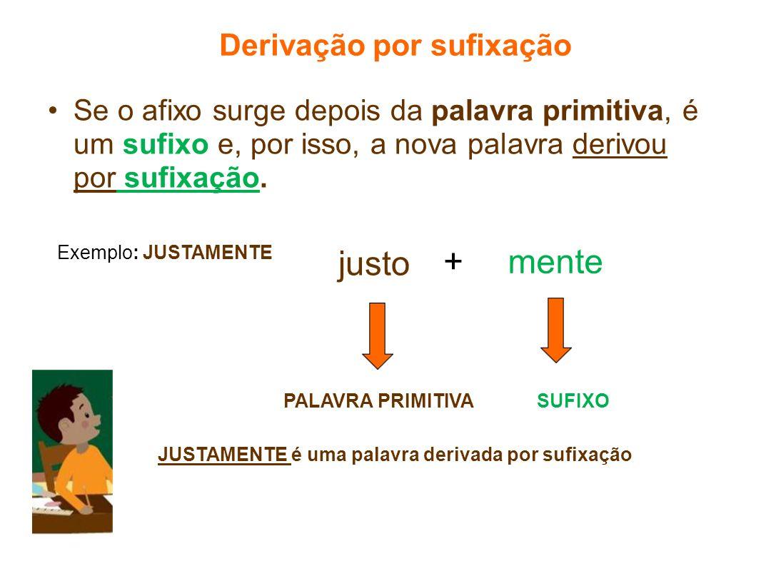 Derivação por sufixação
