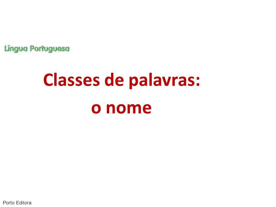 Classes de palavras: o nome