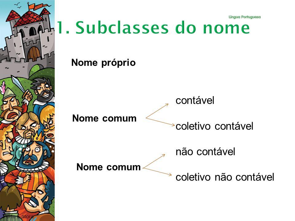 1. Subclasses do nome contável coletivo contável não contável