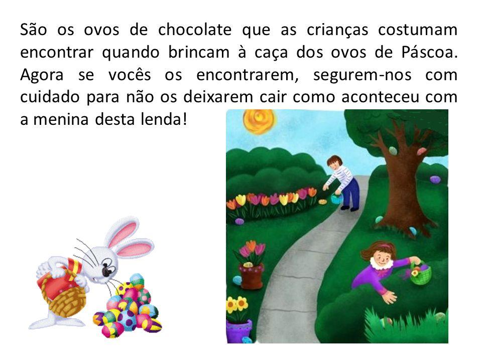 São os ovos de chocolate que as crianças costumam encontrar quando brincam à caça dos ovos de Páscoa.