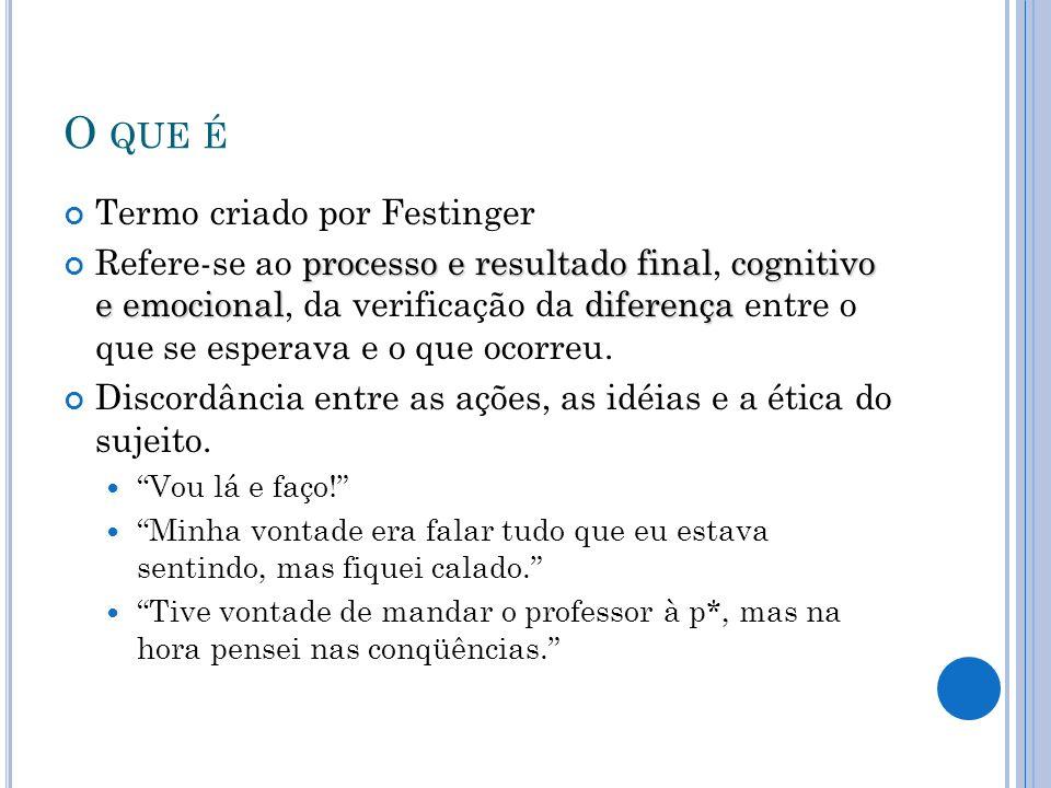 O que é Termo criado por Festinger