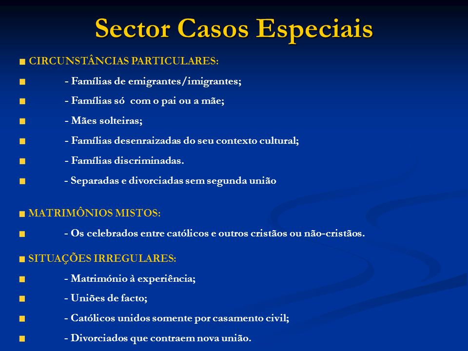 Sector Casos Especiais